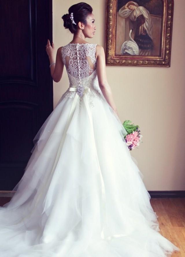 wedding photo - Elegant Ball Gown Long Wedding Dresses