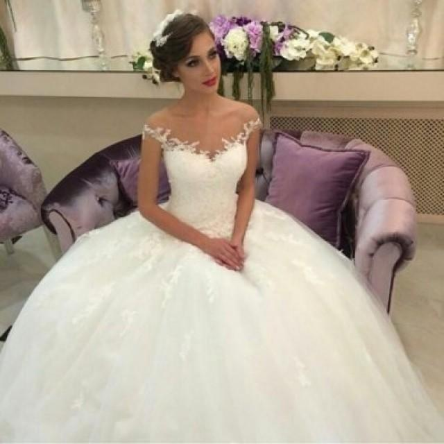 wedding photo - Delicte Off-the-Shoulder Ball Gown Wedding Dress with Appliques