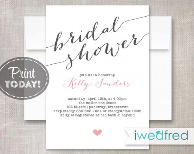 free printable bridal shower invitation templates - Thevillas.co