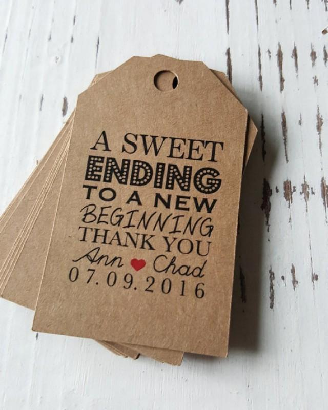 wedding photo - Favor Tags with Bakers Twine - Thank You Tags - Personalized Tags - Party Tags - Wedding Favor Tags