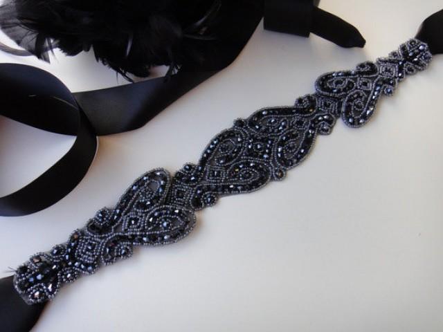 Black Bridal Belt Black Wedding Sash Black Bridal Sash