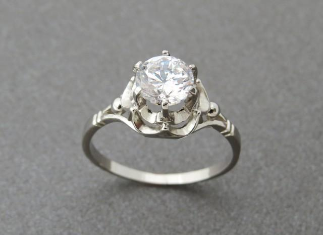 topaz engagement ring topaz solitaire ring antique style