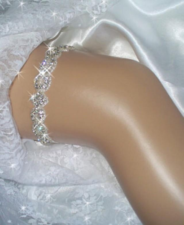 wedding photo - Rhinestone Wedding Garter, Crystal Keepsake Garter, Bridal Garter Set, Weddings, Brides, Wedding Garder
