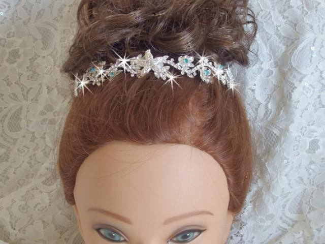 wedding photo - Beach Tiara for Wedding, Starfish Tiara, Destination Wedding, Beach Wedding Tiara, Beach Wedding Head Band, Bridal Crown, Something Blue