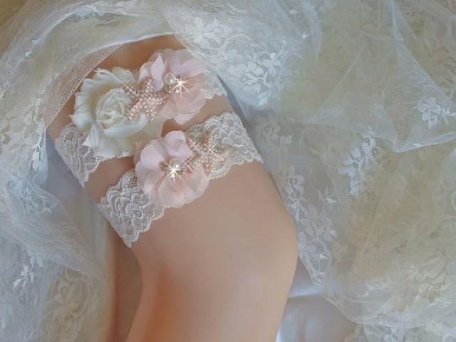 wedding photo - Beach Wedding Garter, Pearl Starfish Garter, Blush Pink Bridal Garter, Wedding Garder Set, Keepsake Garter w/Toss, Destination Garter