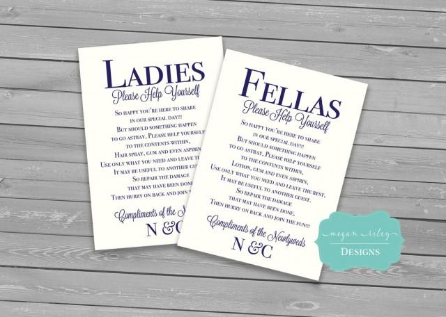 Wedding Bathroom Basket Printable Males Amp Females Guest