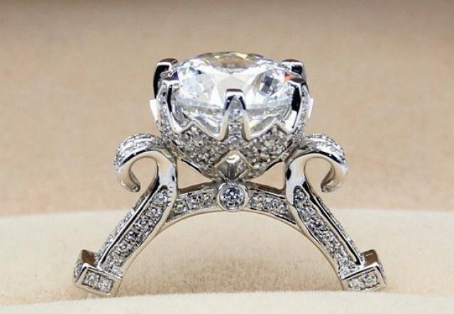 3 carat diamond cinderella pumpkin carriage fairy tale wedding engagement ring promise ring wedding ring disney once upon a time unique love 2531066 - Cinderella Wedding Ring