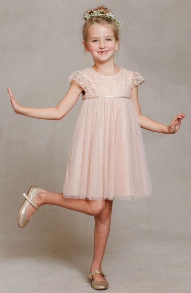 0b9022d88 wedding photo - Jenny Yoo 'April' Lace & Tulle Dress (Toddler, Little