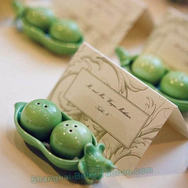 Two peas in a pod salt and pepper shakers wedding reception decor 2532456 weddbook - Two peas in a pod salt and pepper shakers ...