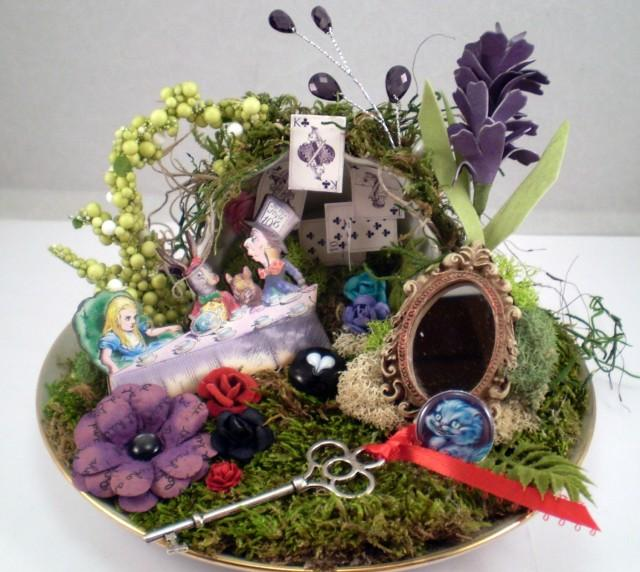 wonderland wedding centerpiece  wonderland birthday decor