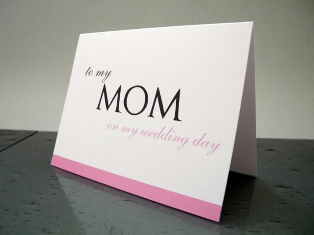 Gift For Mom On My Wedding Day : To My Mom On My Wedding Day Card - Mother Wedding Day Gift #2532916 ...
