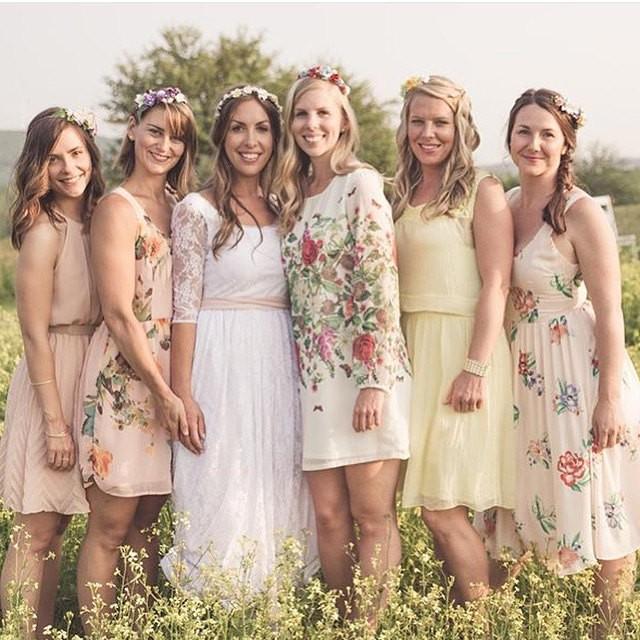 Bachelorette Party DIY Flower Crown Kits Set Of 5 Bridesmaids Flowercrowns DIY Wedding Kits