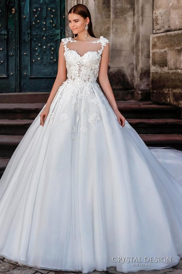 Crystal design 2016 wedding dresses fairytale ball gowns for Fairytale ball gown wedding dresses