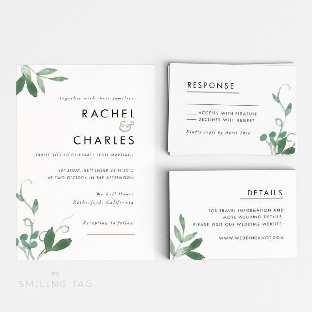 wedding response cards size