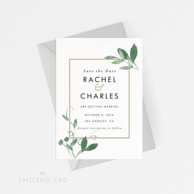 Save The Date Wedding Invitation Ornaments Save The Date: Printable Save The Date Printable