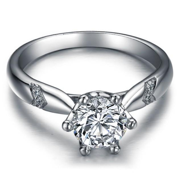 cut forever brilliant moissanite engagement ring and