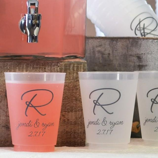 16 oz  custom printed frosted plastic wedding cups  2535630