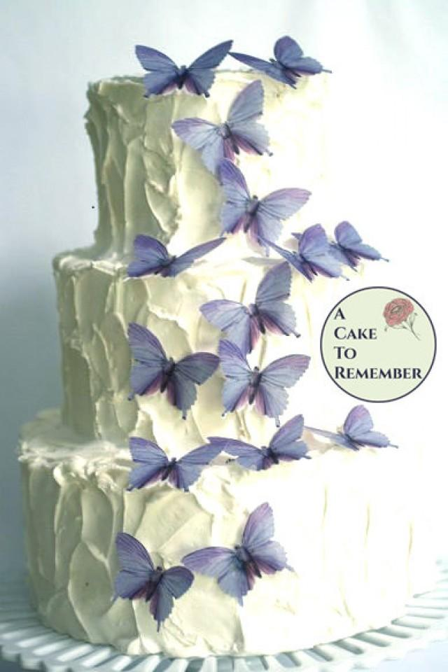 purple wedding cake decorations 15 large lavender color edible butterflies decorations for lavender weddings 2536674 weddbook