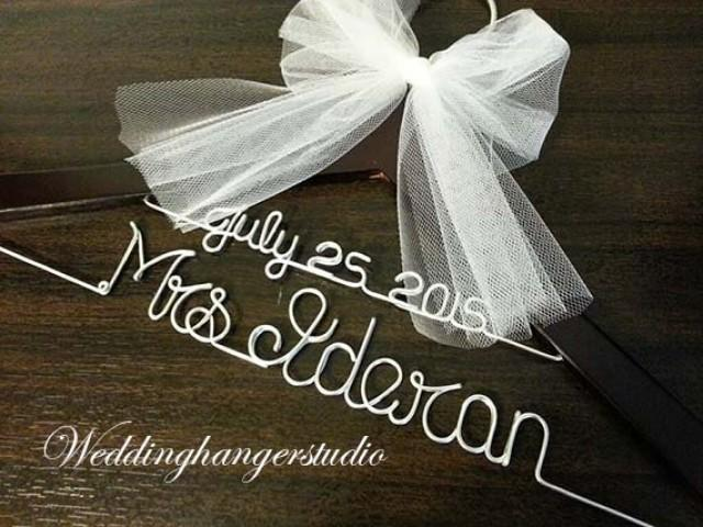 Opening Wedding Gifts: GRAND OPENING SALE WeddingHanger With Date, 2 Line Name