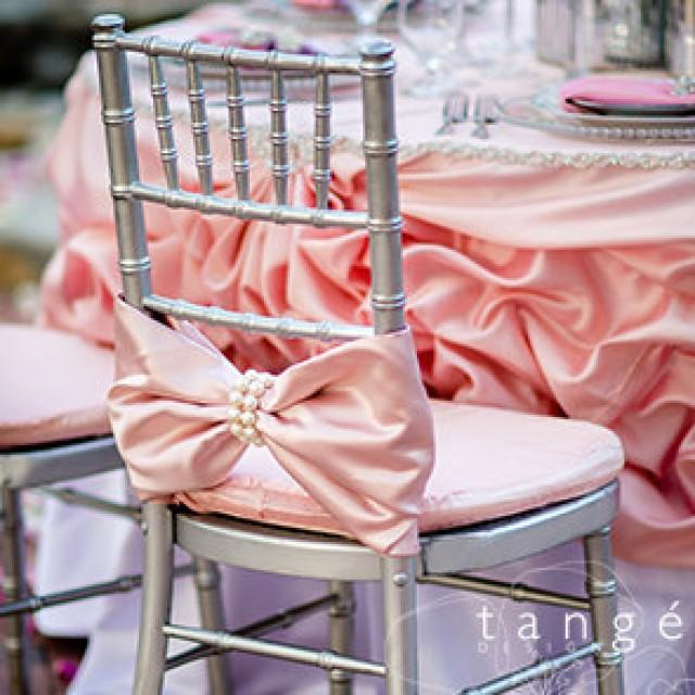pearl wrap chiavari chair covers for the bride and groom baby shower