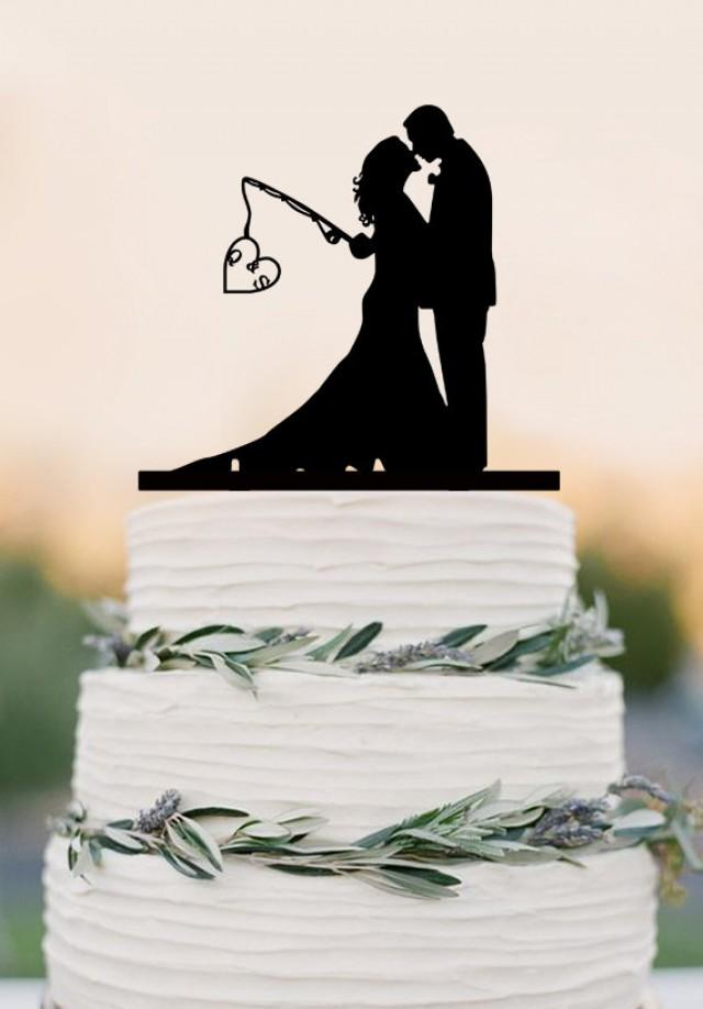 Hooked On Love Wedding Cake Topper