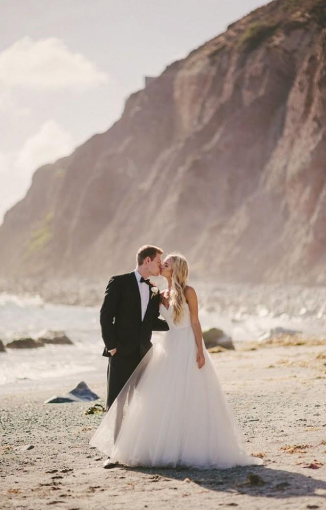 wedding photo - Elegant Beach Wedding Photography