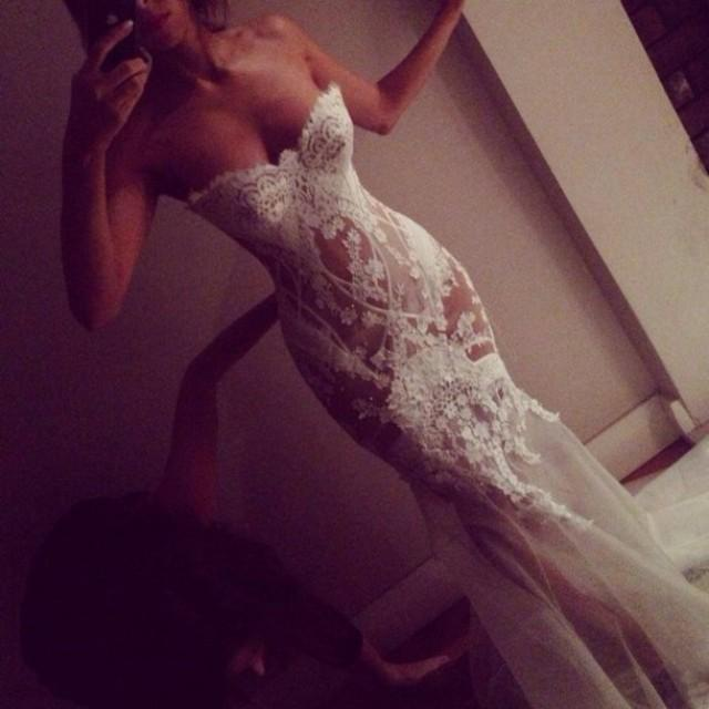 wedding photo - Sexy Long Sweetheart Mermaid Wedding Dress Bridal Gown with Appliques
