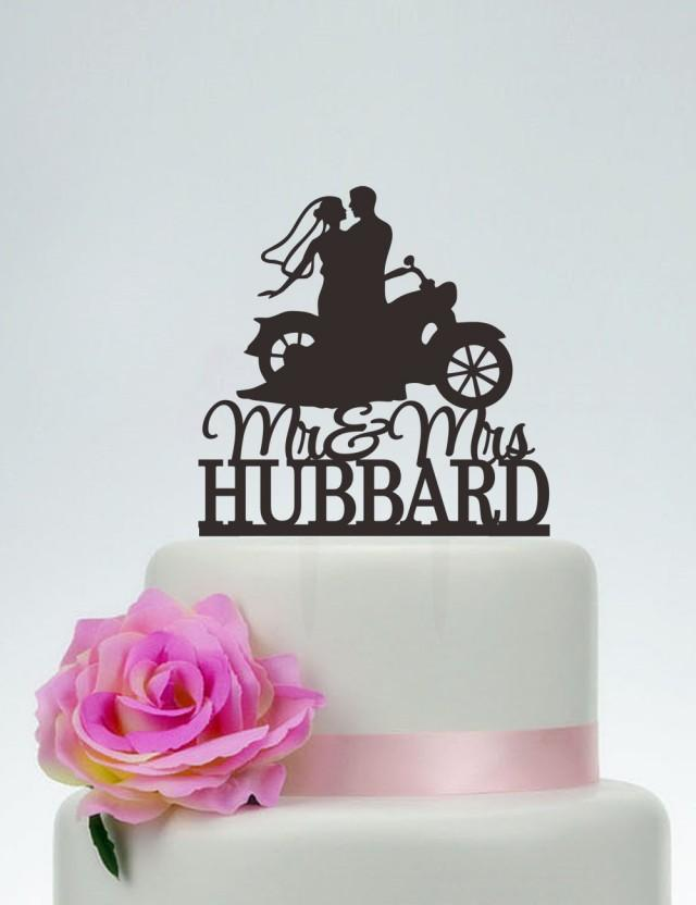 Motorcycle Grooms Cake Topper