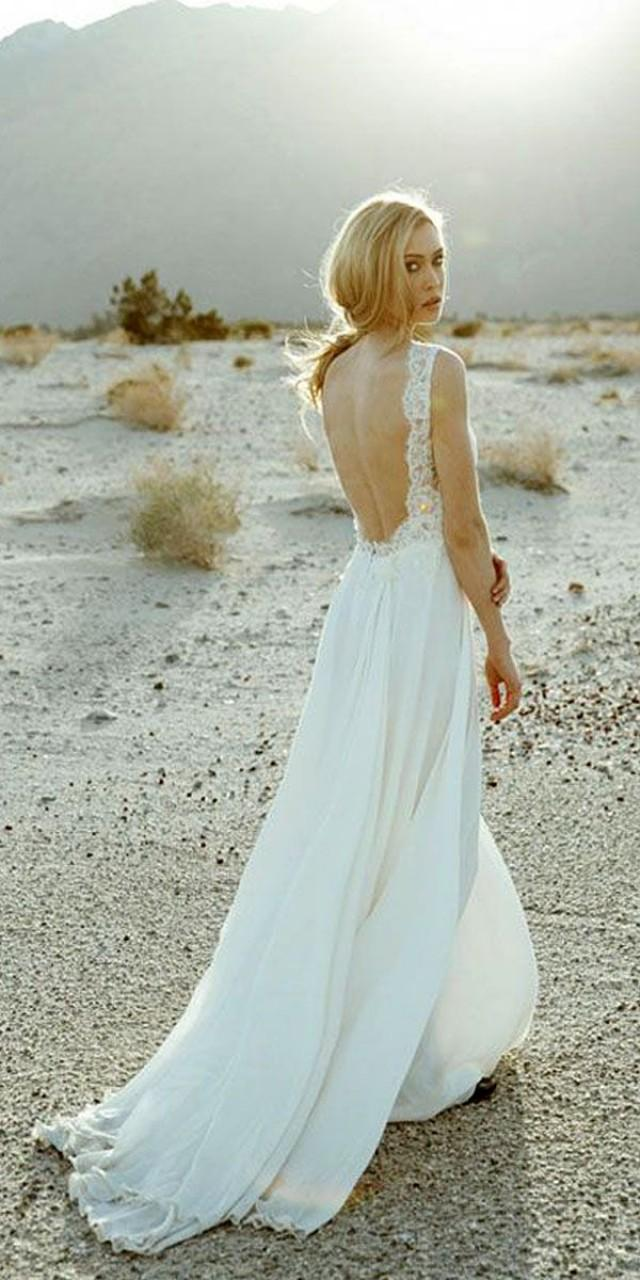Beach Wedding Dresses Open Back - Cheap Wedding Dresses