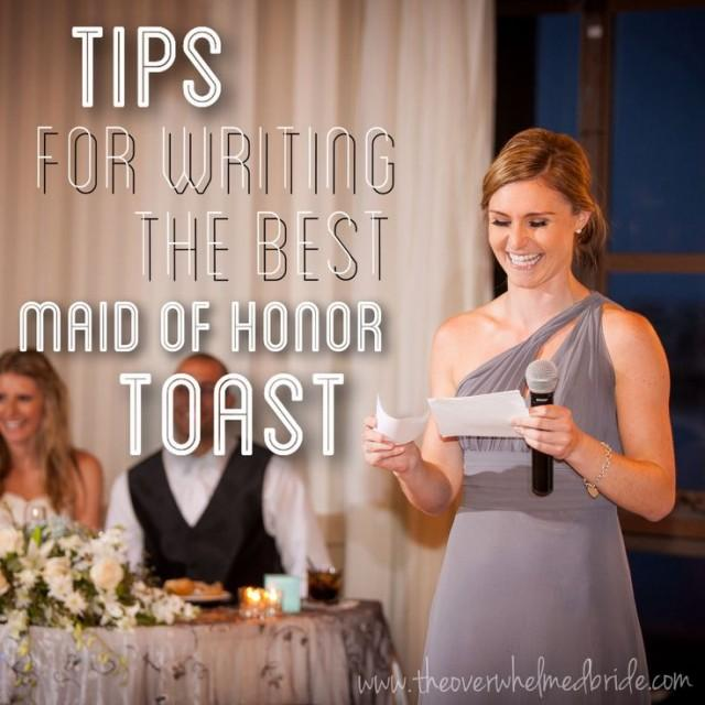 writing maid of honor speech