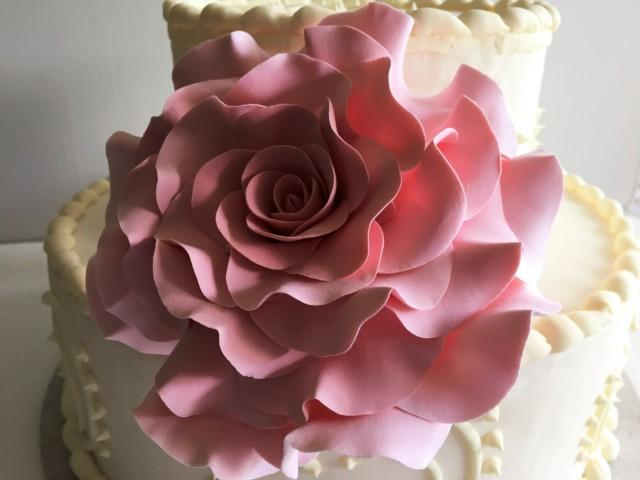 Cake Decorating Rose Design : Rose Cake Topper Wedding Cake Topper Flower Cake Design ...
