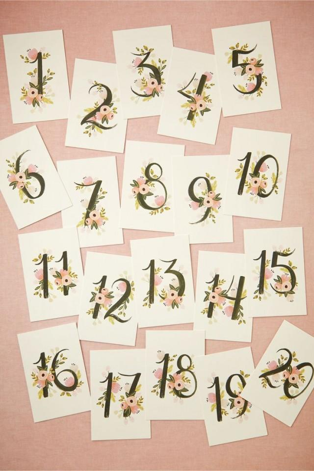Decor floravine table numbers 5 2541292 weddbook for Number 5 decorations