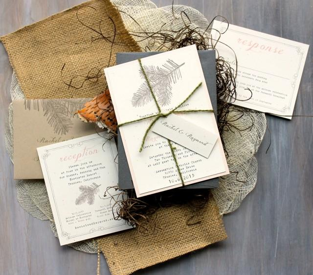 Rustic Elegant Wedding Invitations Peach Wedding Invitations Rustic Wedding Invitations