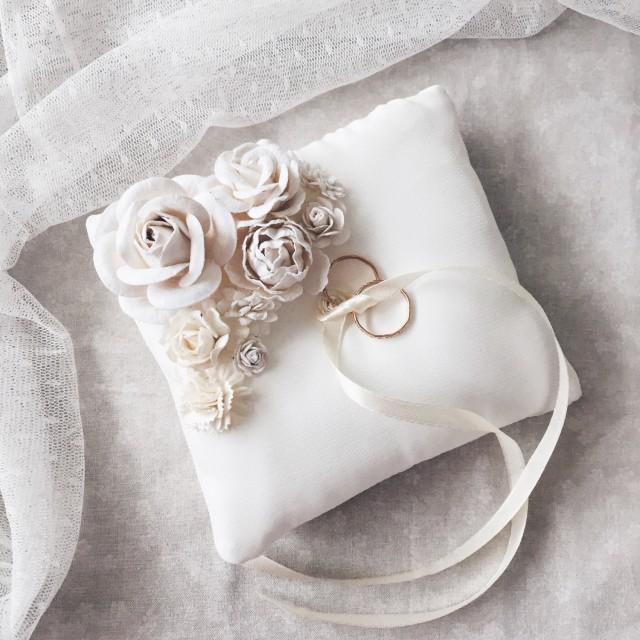 ring holder ring bearer pillow wedding ring box shabby
