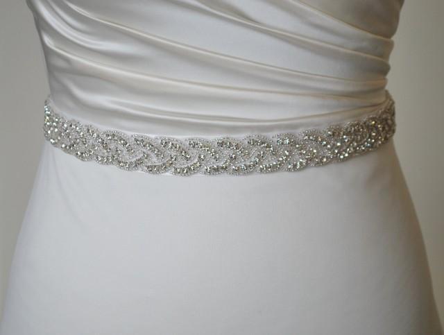 All around bridal belt diamond belt rhinestone belt for Rhinestone belts for wedding dresses