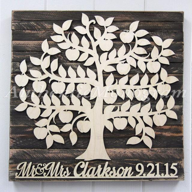 Personalized wedding guest book wooden sign for 200 guest for Wedding wall decor
