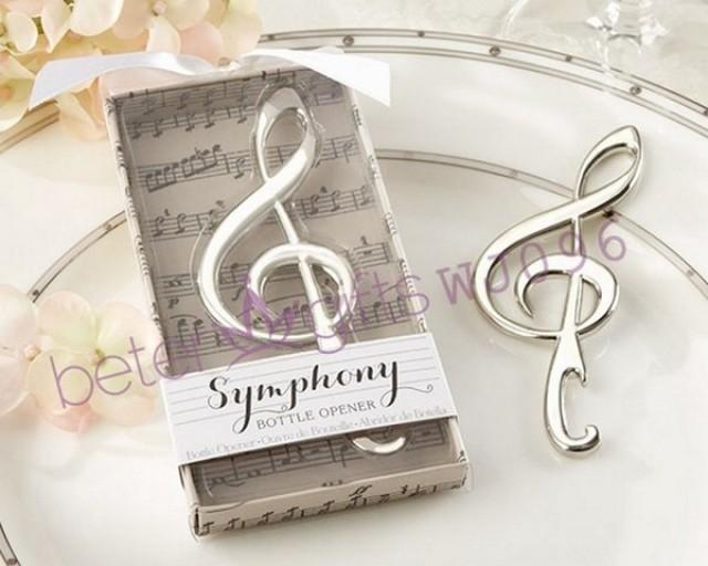 wedding photo - Bomboniere Symphony Beach Music Note Bottle Opener WJ096 BeterWedding
