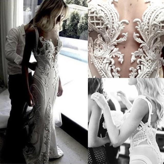 wedding photo - Sexy Long Bridal Gown Wedding Dresses with Appliques