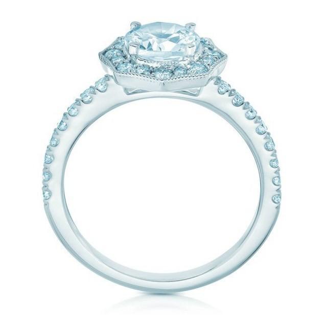 wedding photo - Art Deco Forever One Moissanite & Diamond Ring - Vintage Moissanite Engagement Rings for Women - Jewelry For Women