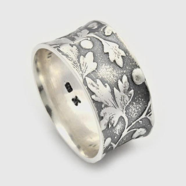 wedding photo - Handmade Sterling Silver floral ring