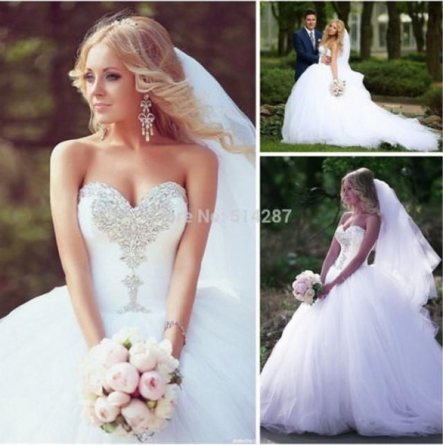 2016 new white ivory wedding dress bridal gown custom size