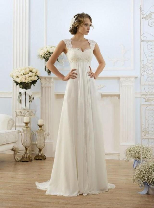 new chiffon lace white ivory bridal dress beach wedding