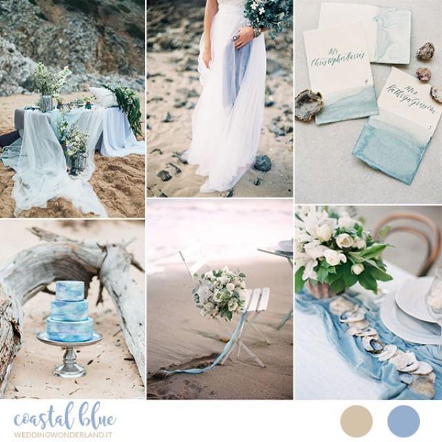 Matrimonio In Azzurro Polvere : Inspiration board matrimonio azzurro e organico sulla spiaggia