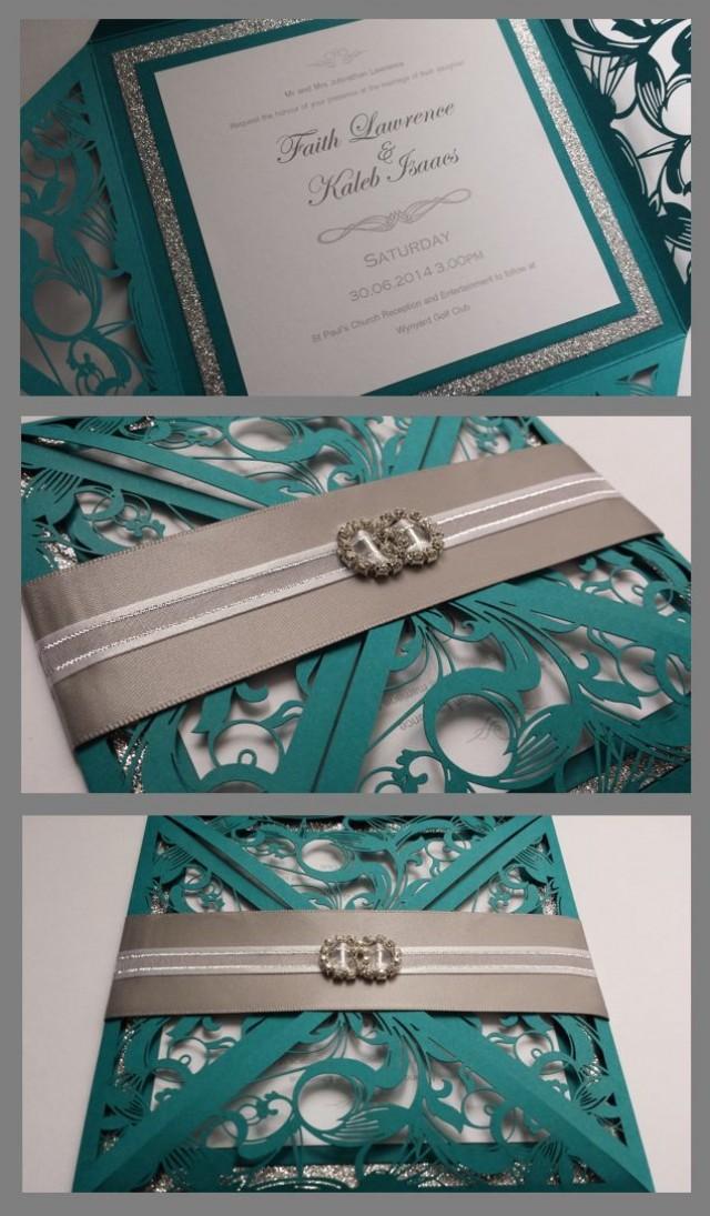 Silver teal wedding