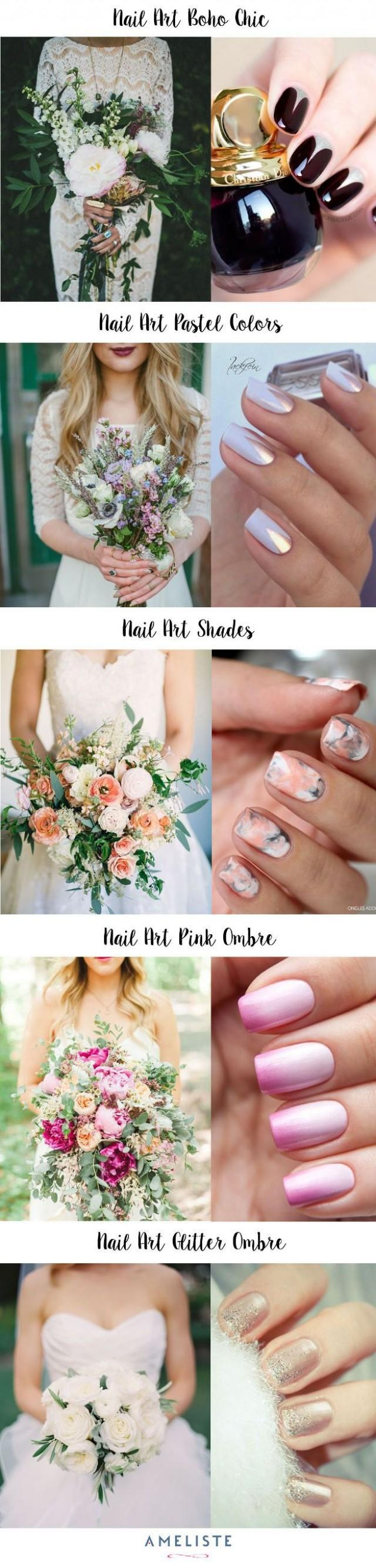 wedding photo - Manicure De Mariage : Idées De Nail Art