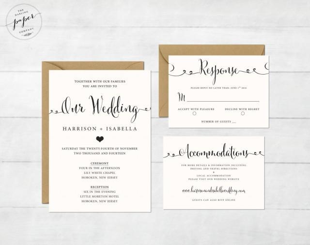 Wedding Invitations Memphis Tn: Printable Wedding Invitation Set