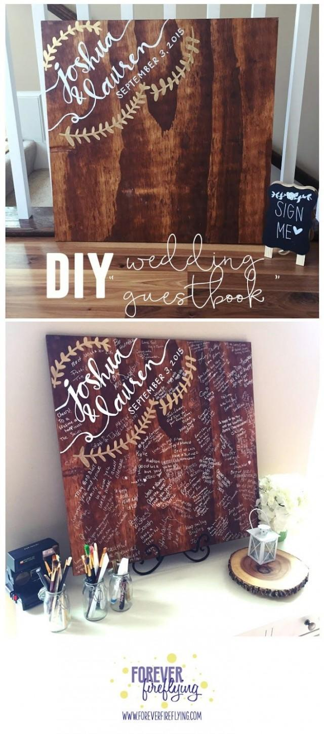 "Wedding: DIY Wood ""guestbook"" Sign"