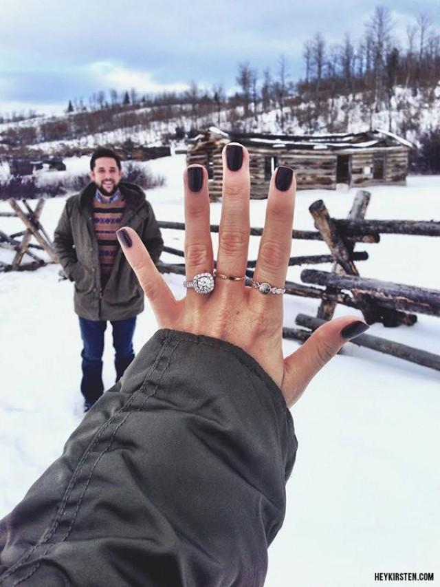 wedding photo - Manicures Sure To Show Off Your Engagement Ring