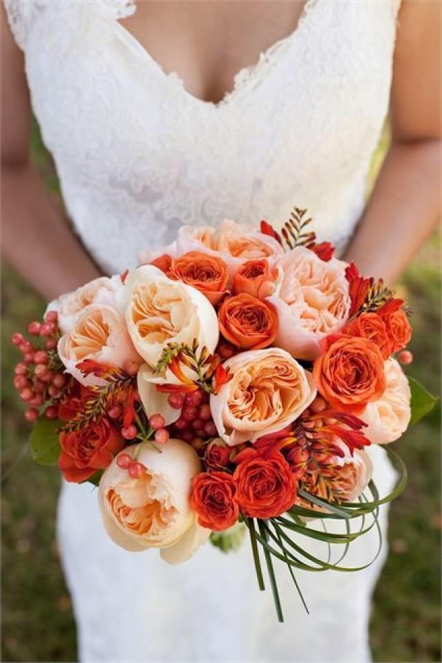 wedding photo - Orange Wedding Bouquet