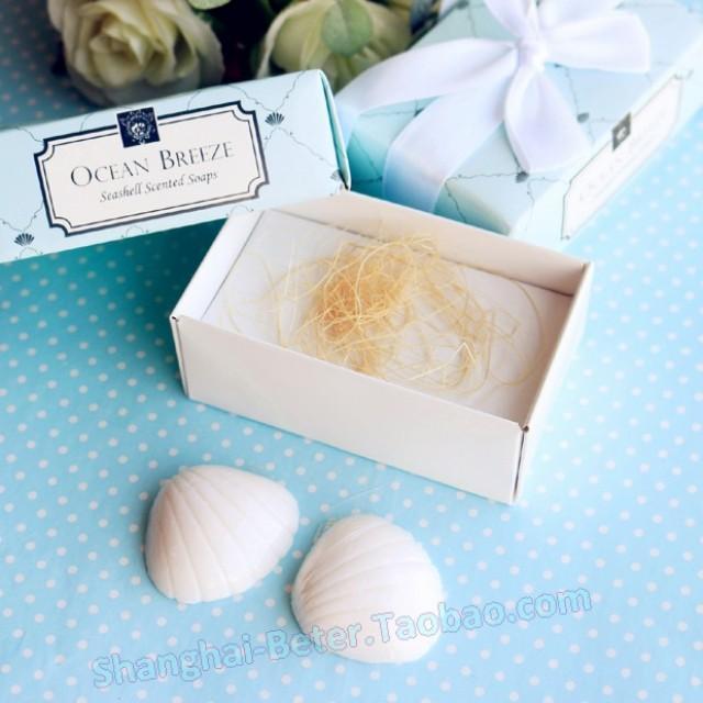 wedding photo - Beter Gifts® Beach Party Ocean Breeze Seashell Soaps BETER-XZ005 Kindergarten